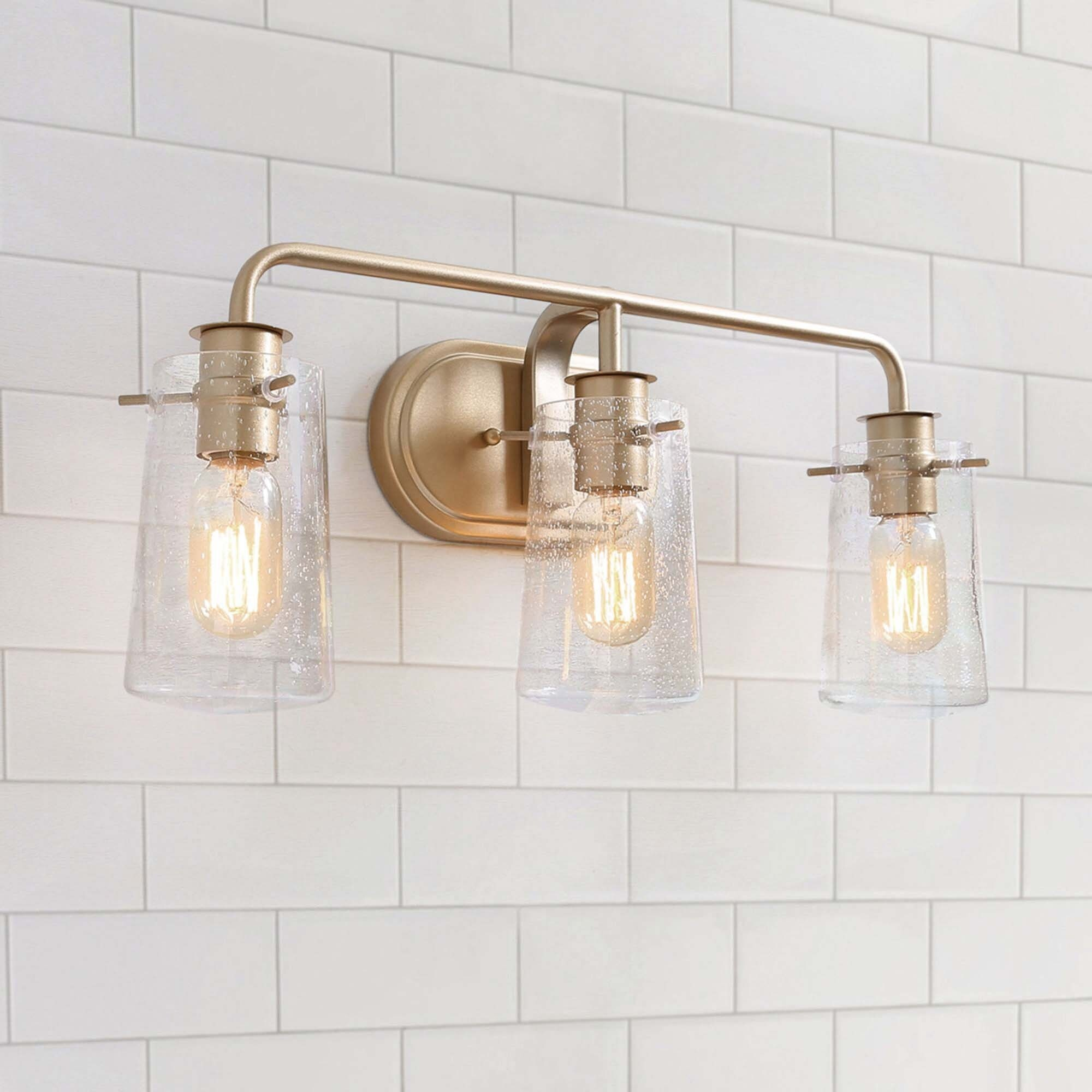 Modern 3 Lights Bathroom Vanity Lighting Golden Wall Sconce For Powder Room L22 5 Xw5 5 X H 9 L22 5 Xw5 5 X H 9 On Sale Overstock 29955459