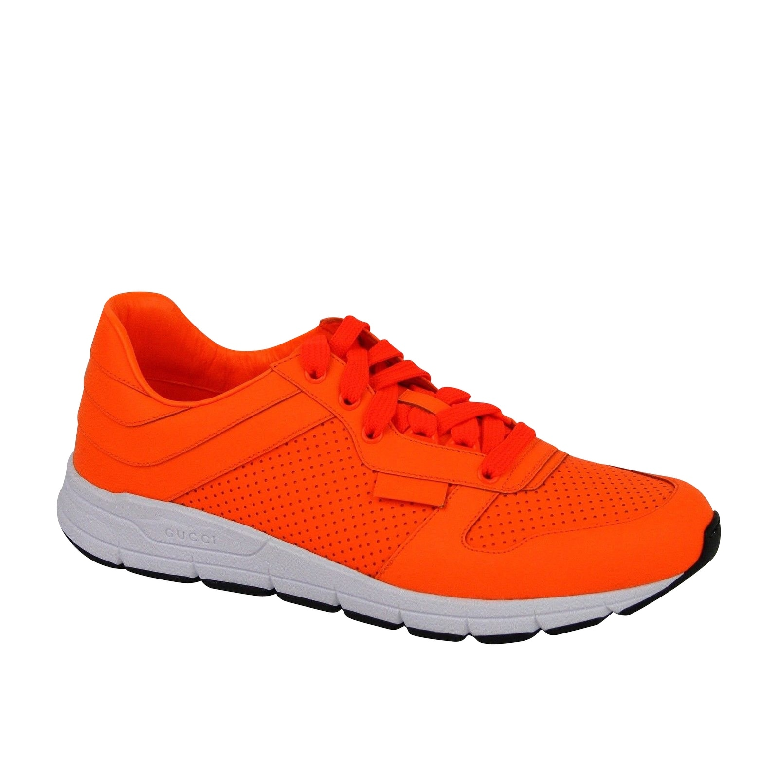Running Neon Orange Leather Lace