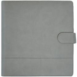 "Gray W/Stitched Accents - Kaisercraft Journal Planner 9""X9"""