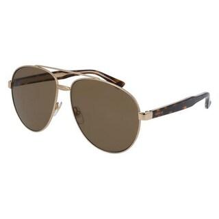Gucci Pilot silver Unisex Sunglasses - GG0054S-003