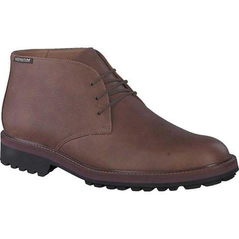 Mephisto Men's Berto Chukka Boot Chestnut Nevada Smooth Leather