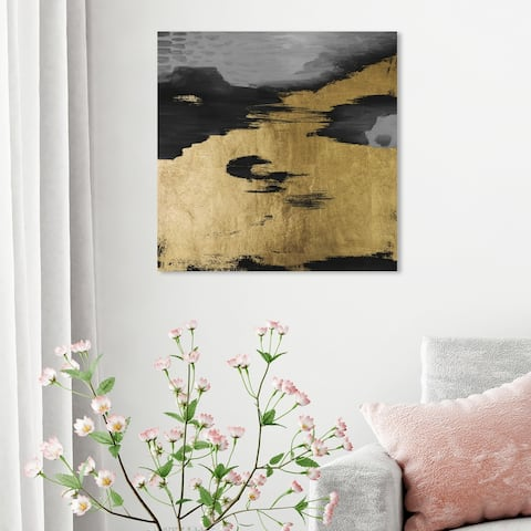 Oliver Gal 'Gold Mine' Abstract Wall Art Canvas Print Paint - Gold, Black