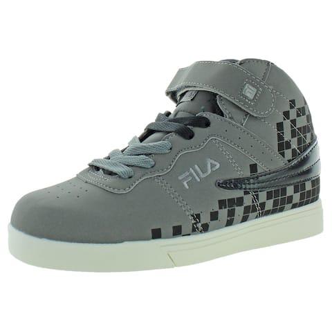 Fila Boys VULC 13 Digital Fade High Top Sneakers Workout Lifestyle