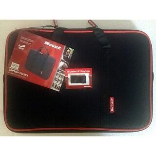 Samsill Microsoft 15.6-inch/16-inch Neoprene Laptop Sleeve Black/red 39521
