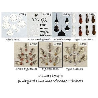 Junkyard Findings Vintage Trinkets Prima Flowers Rustic Manly Cards Scrapbooking