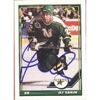 Ulf Dahlen Minnesota North Stars 1991 Opee Chee Autographed Card This item comes with a certificate of authenticity f