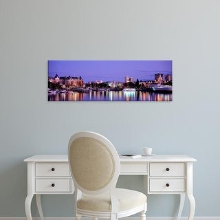 Easy Art Prints Panoramic Images's 'Reflection of buildings in water, Victoria, British Columbia, Canada' Canvas Art