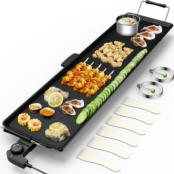 Electric Teppanyaki Table Top Grill Griddle BBQ Barbecue Nonstick. Opens flyout.