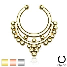Beaded Collar Non-Piercing Septum Hanger (Sold Ind.)