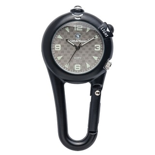 Smith & Wesson Carabiner Pocket Watch Black Water Resistant 40mm