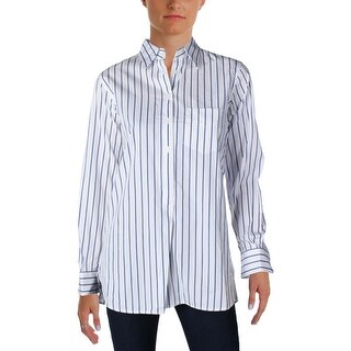 Lauren Ralph Lauren Womens Aquene Blouse Striped 1/2 Button Down (3 options available)