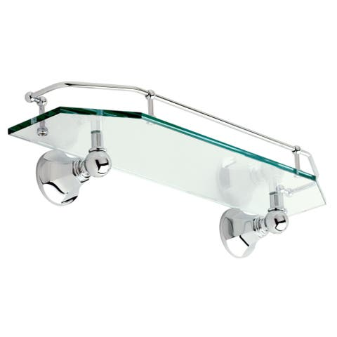"Ginger 635T-18 Empire 18"" Shelf with Rail - Polished Chrome"