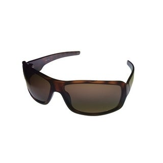 Timberland Sunglass Mens Tortoise Plastic Rectangle, Solid Brown Lens TB7092 52E - Medium