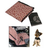 JAVOedge Brown Cloud Pattern Print Front Seat Cover / Mat for Comfort, Easy Cleaning