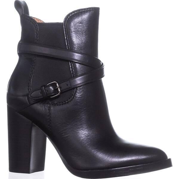 3bd995e70dbe1 Shop Coach Jackson Buckle Block-Heel Booties, Black - 9 us - Free ...