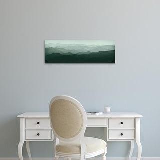 Easy Art Prints Ryan Fowler's 'Green Mountains' Premium Canvas Art