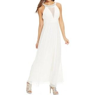 Trixxi Womens Formal Dress Mesh Beaded - 5
