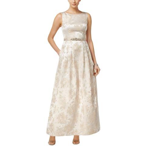 91e2d4cdf69 Jessica Howard Womens Evening Dress Metallic Floral Print - 14