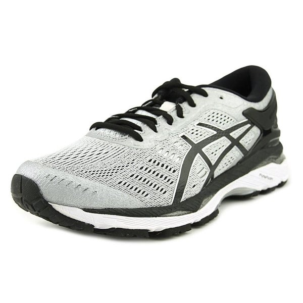 Asics Gel Kayano 24 Men Round Toe Synthetic Gray Running Shoe