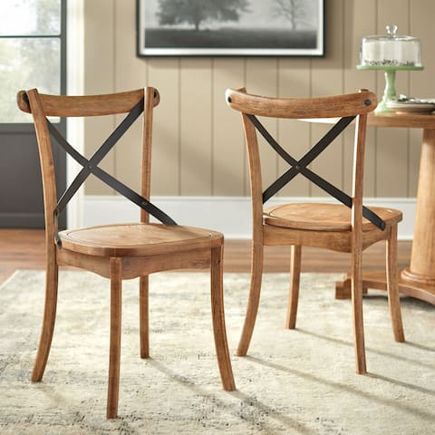 Simple Living Constance X-Back Dining Chairs (Set of 2)