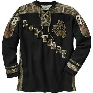 Legendary Whitetails Men's Mossy Oak Camo Defender Hockey Jersey - Black
