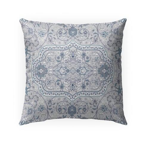 EMPIRE GREY & BLUE Indoor-Outdoor Pillow By Marina Gutierrez