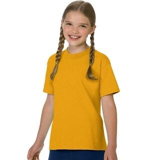 Hanes Authentic TAGLESS® Kids' Cotton T-Shirt - Size - XS - Color - Gold
