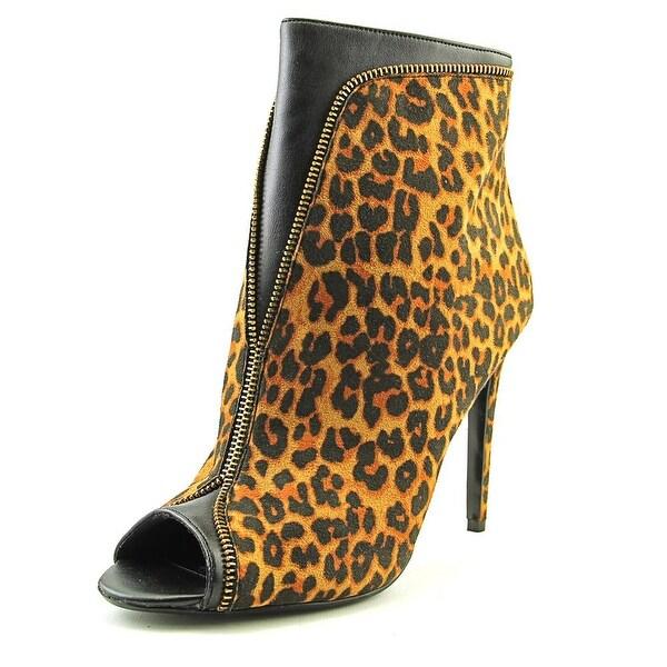 Thalia Sodi Lynda Women Peep-Toe Canvas Bootie