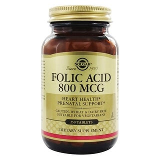 Solgar Folic Acid 800 mcg Tablets 250