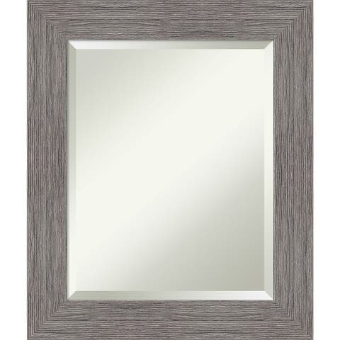 Pinstripe Plank Grey Bathroom Vanity Wall Mirror