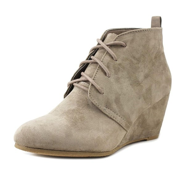 New Directions Camden Women Round Toe Synthetic Gray Ankle Boot