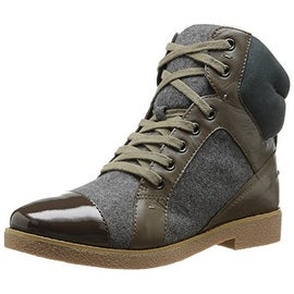 French Connection Womens Vance Leather Colorblock Fashion Sneakers - 36