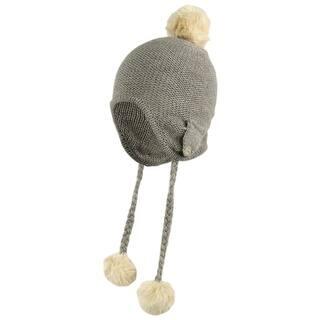 Pom Pom Faux Fur Trapper Winter Hat - One Size