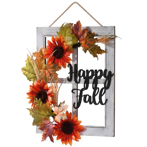 "16"" Happy Fall Wall Art"