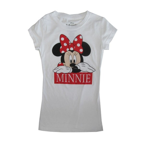 b7fb9b889 Shop Disney Girls White Minnie Mouse Print Short Sleeve Cotton T-Shirt -  Free Shipping On Orders Over $45 - Overstock - 28299704