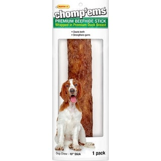 "Ruffin' It Chomp'ems 10"" Beefhide Stick W/Duck-"