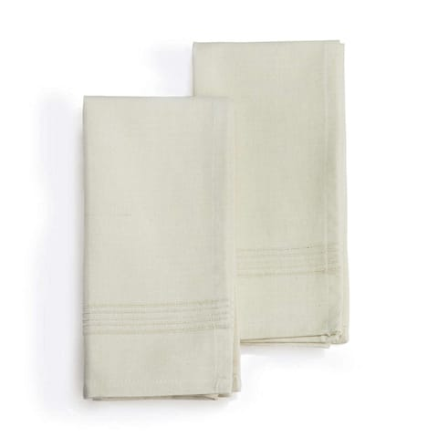 WHIPPED CREAM Handmade heavy weight Cotton Napkins, Set of 2 (India)