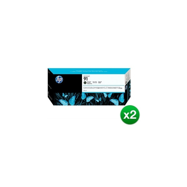 HP 91 775-ml Matte Black DesignJet Pigment Ink Cartridge (C9464A) (2-Pack)