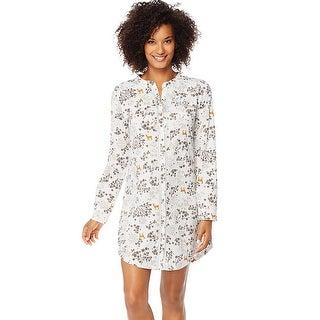 Hanes Ultimate Mandarin Collar Sleep Shirt