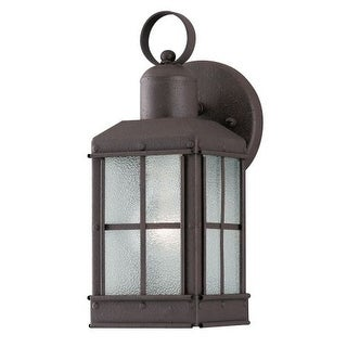 "Westinghouse 6468100 10.75"" Tall 1 Light Outdoor Lantern Wall Sconce"