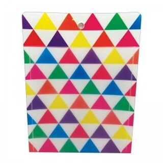 10 x 13 in. Pocket Triangle Grommett Hole Poly Clear Front - Pack