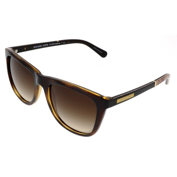 30eb7adeb1ab1 Michael Kors M6009 ALGARVE 301013 Dark Tortoise Rectangle Sunglasses -  54-18-135