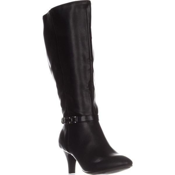KS35 Hulah Knee High Zip-Up Dress Boots, Black