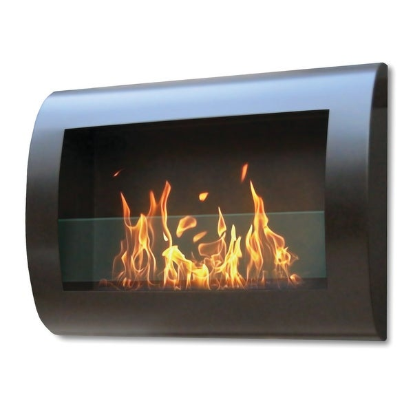 Chelsea (Black) Wall Mount Bio Ethanol Ventless Fireplace
