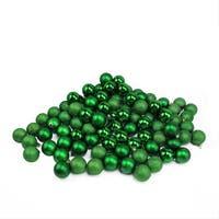 "96ct Xmas Green Shatterproof 4-Finish Christmas Ball Ornaments 1.5"" (40mm)"