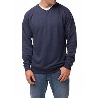 Alternative NEW Blue Heather Mens Size 2XL V-Neck Pullover Sweater