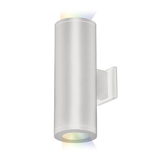 """WAC Lighting DS-WD05-FA-CC Tube Architectural ilumenight 2 Light 12-1/2"""" Tall Integrated LED Outdoor Wall Sconce with Away From"""