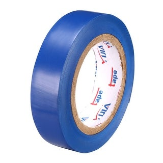 """PVC Electrical Insulating Tape Single Sided 21/32"""" Width 49ft 20mil Blue - 20 mil Thick, Blue"""