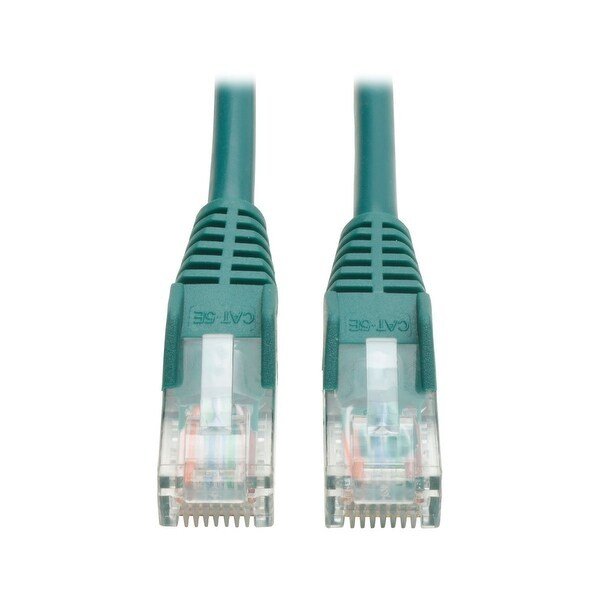 Tripp Lite N001-007-Gn Cat5e 350Mhz Snagless Molded Patch Cable - Green, 7-Ft