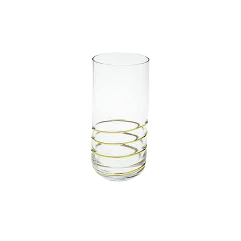 Set of 6 Tumblers with Swirl Gold design